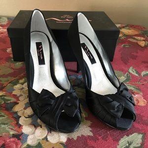 fb0fec36c44 Nina Shoes - Nina black satin heels